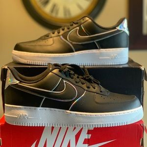 """Nike Air Force 1 Low """"BLACK IRIDESCENT"""" Size 13"""